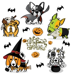 Halloween Little Dog Little Devil vector