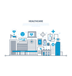 Healthcare system special tools atmosphere vector