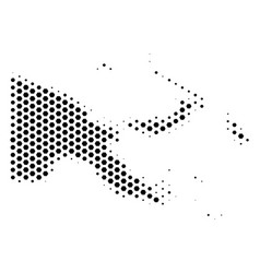 Hex-tile papua new guinea map vector