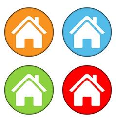 Home button set vector