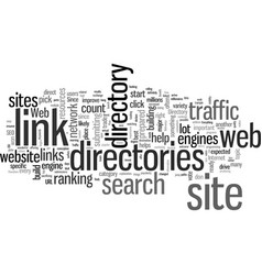 how to use web directories to boost traffic to vector image