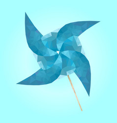 isolated paper wind turbine on white vector image