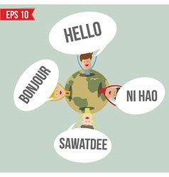 Languages say hello in the world - - eps10 vector