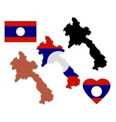 Laos map vector