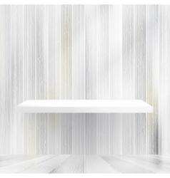 Layers Blank white wooden bookshelf EPS10 vector