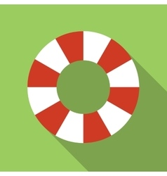 Life-buoy ring colored flat icon vector