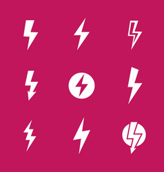 lightning bolts warning signs vector image