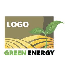 Logotype of agriculture logo with a field of vector