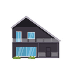 modern house of non-standard architecture isolated vector image