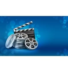 Movie film disks vector