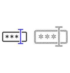 Network mesh password field and flat icon vector
