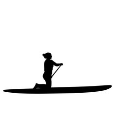 Paddleboarding eps vector