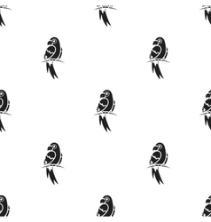 Parrot icon in black style isolated on white vector image