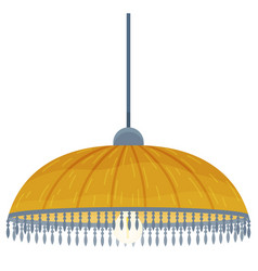 pendant light lamp chandelier with fabric vector image
