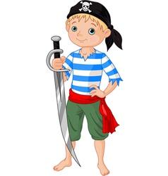 pirate boy vector image vector image