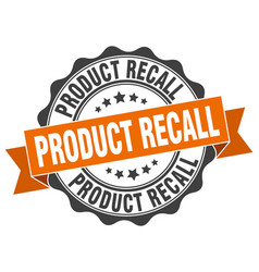 Product recall stamp sign seal vector