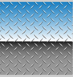 realistic chrome 3d diamond plate vector image