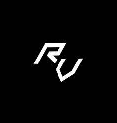 Rv logo monogram with up to down style modern vector