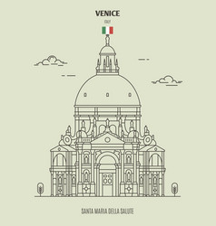 Santa maria della salute church in venice italy vector