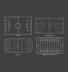 set sport field vector image