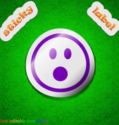 Shocked Face Smiley icon sign Symbol chic colored vector image