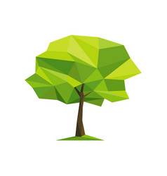 spring concept tree formed by triangles vector image