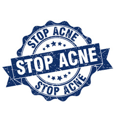 stop acne stamp sign seal vector image
