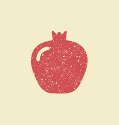 stylized flat icon of a pomegranate vector image