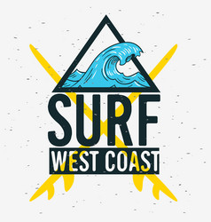 surfing surf themed graphics for promotion ads t vector image