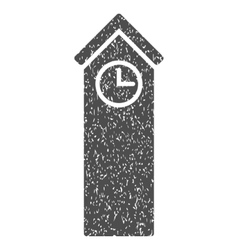 Time tower grainy texture icon vector