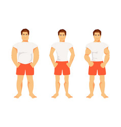 types of male figures vector image