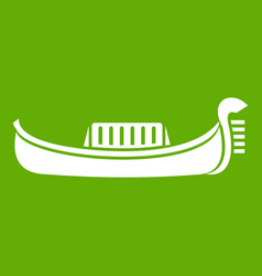 Venice gondola icon green vector