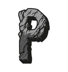 Vintage alphabet letter p template vector