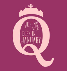 vintage queen symbol motivation quote vector image