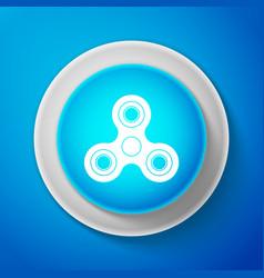 white fidget spinner icon trendy hand spinner vector image