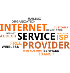 Word cloud - internet service provider vector