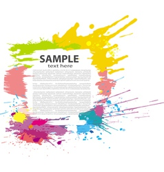 colorful grunge banner vector image vector image