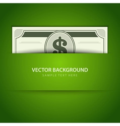 Dollars money vector image