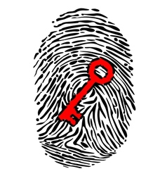Fingerprint and key vector image