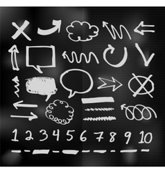 hand drawn speech bubbles on chalkboard vector image vector image