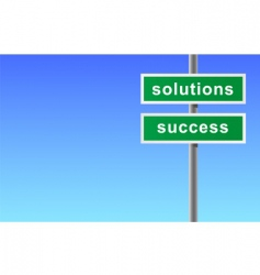 sign of solutions success vector image vector image