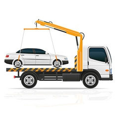 tow truck 03 vector image vector image