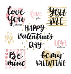 Valentine s Day Calligraphic Set vector image vector image
