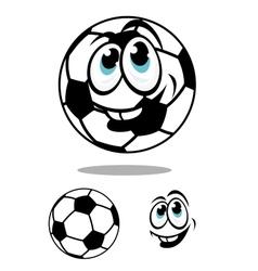 Cartoon soccer or football ball charcter vector image vector image