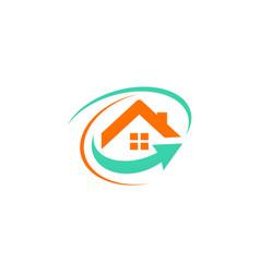 home arrow business logo vector image