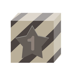 prize win winner background icon box trophy vector image vector image