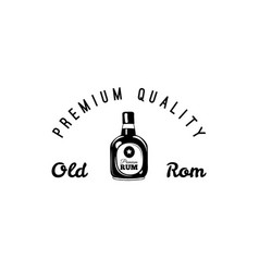 rum bottle and glass of craft beer icon pub bar vector image vector image