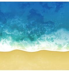 sea beach background vector image vector image