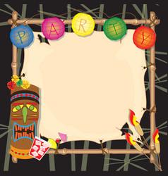Tropical retro party invitation vector