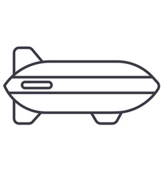 aerostat line icon sign on vector image vector image